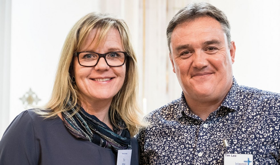 Tin Mörk och Tim Lea talade om grundtankarna bakom Nya sätt att vara kyrka.