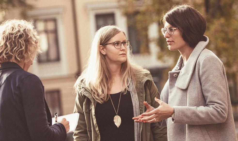 – Vi vill att EFS:aren ska känna glädje, tillit och samhörighet med Salt, säger Charlotte Erdtman i mötet med Budbärarens Sofia Dernánd.