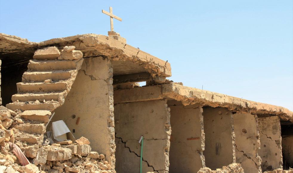 Alla helgedomar, förutom några sunnitiska moskéer, har sprängts i bitar i Sinjar City.