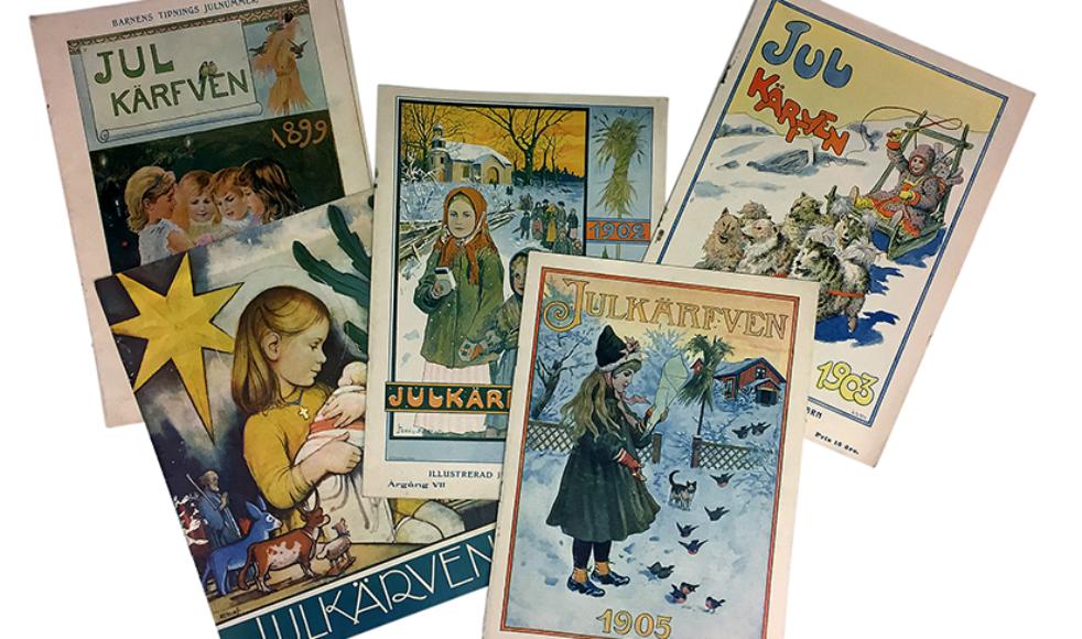Våra utgåvor: Julkärven 1896–1975 Julgåvan 1907–1992 Julottan 1910–1976 I Juletid bland fjällen 1908-1912
