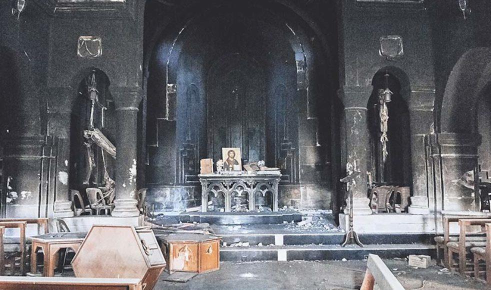 I Bartella fanns det fyra välbesökta  kyrkor innan IS-okupationen. Samtliga är nu vandaliserade.