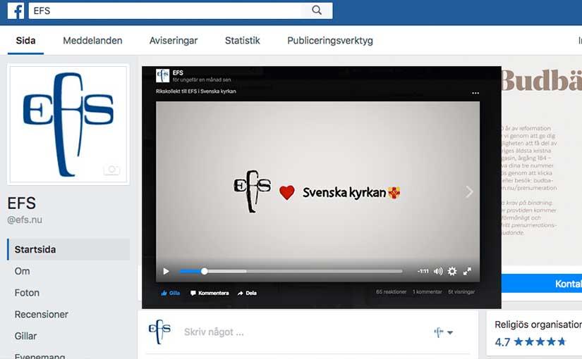 Gilla EFS på Facebook!