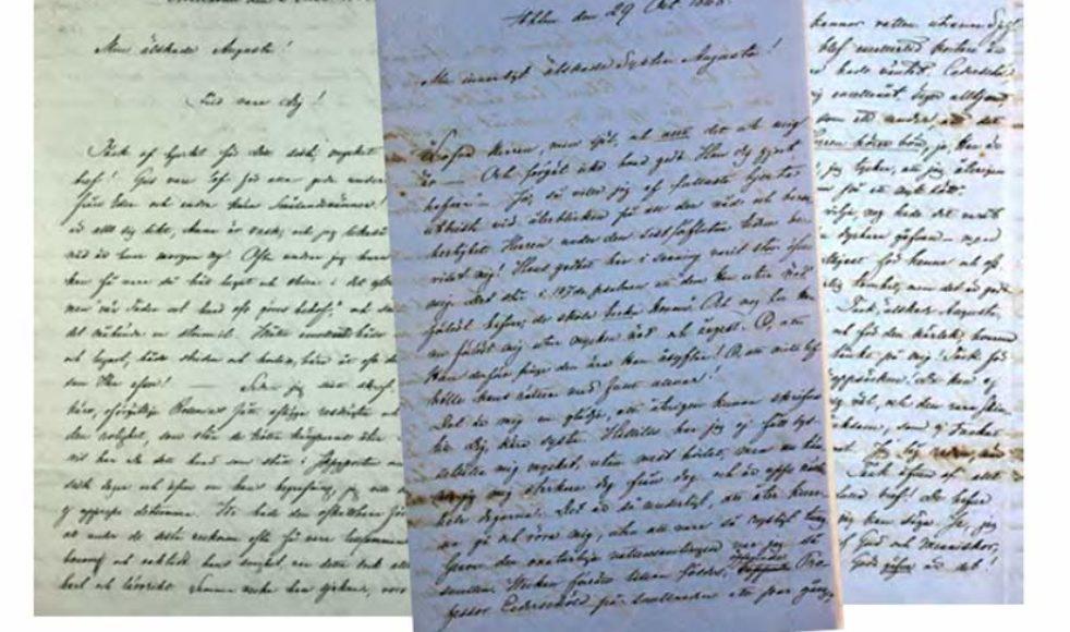 På Universitetsbiblioteket i Lund finns de handskrivna brevväxlingarna att ta del av.