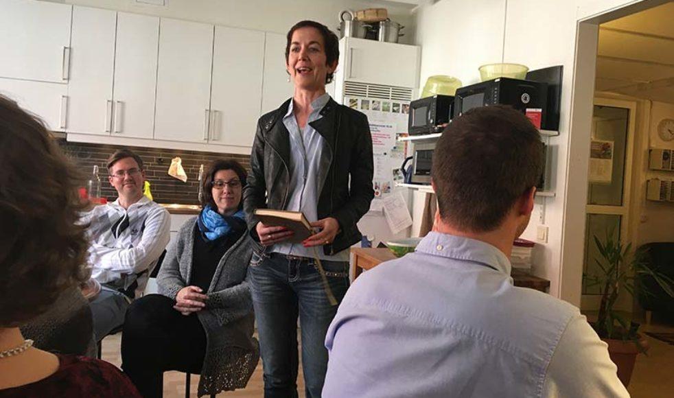 Kerstin Oderhem delade öppenhjärtligt om sin livsresa för kansliet i Uppsala.