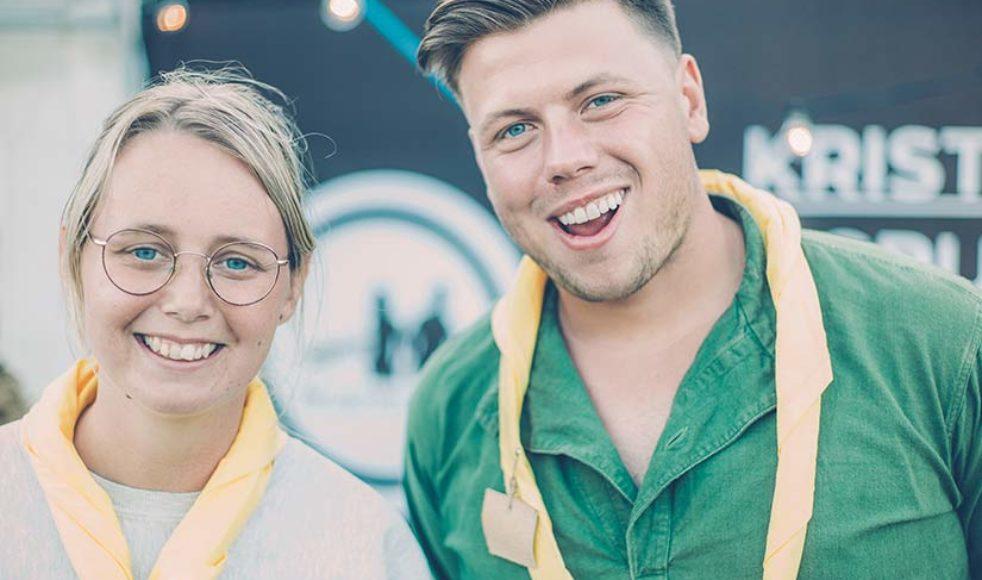 Maria Edlund och Josef Maxson, från Ny Generation, deltar i ungdomslägret Jump och ser scouting som en väg till Gud.