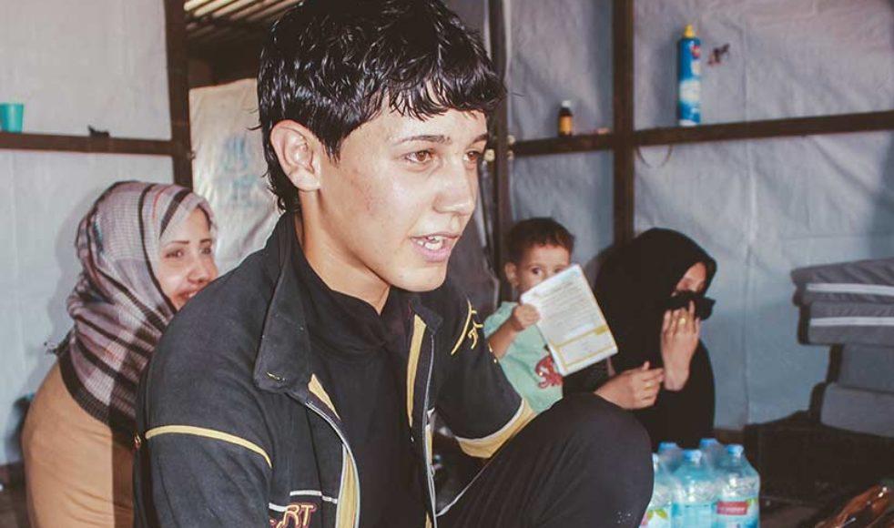 IS slog 17-årige Habib Ali, från Mosul, med elkablar för att hans byxben var längre än vad som var tillåtet i IS-kalifatet.