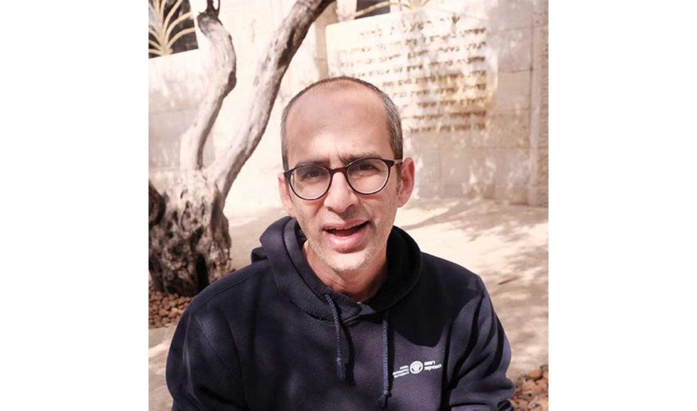 Joe Uziel, en av arkeologerna som deltar i utgrävningarna.
