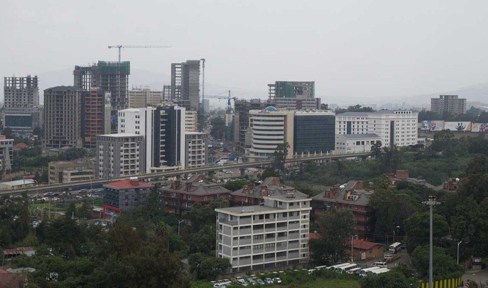 En vy över Addis Abeba vittnar om ett land i förändring. Nya skyskrapor byggs hela tiden.
