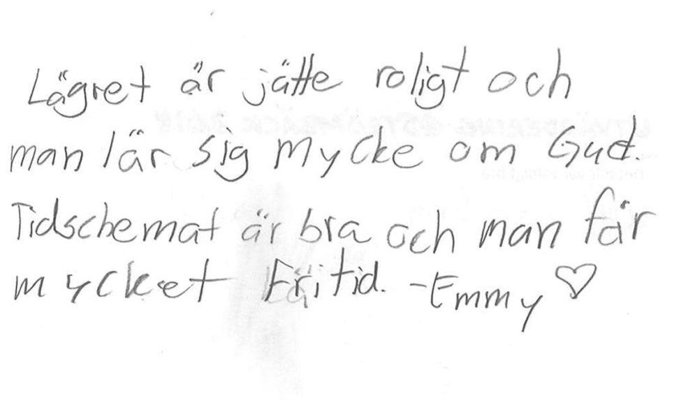 Positiv respons på lägret @Strömbäck