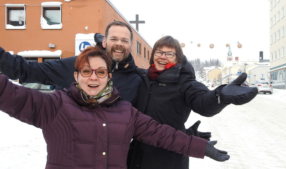 Harriet Korvala, Mikael Artursson och Nanne Näslund peppar för fullt inför årskonferensen.