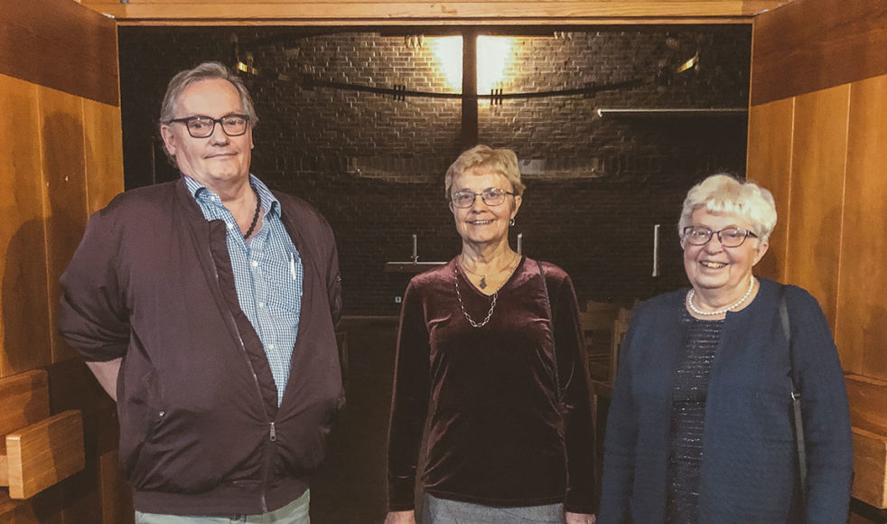 Trotjänarna Leif Wikström, Nanna Franzén och Britt Franzén ser ljust på framtiden.