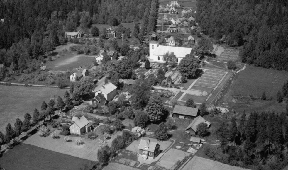 Flygbild över Efraims födelseort Kråkshult.