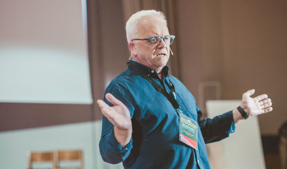 Den uppskattade författaren Arne G Skagen var gästtalare på årskonferensen.