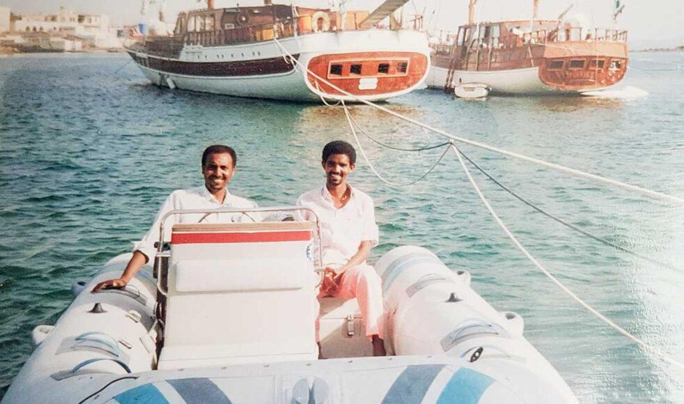Fetsum tillsammans med vännen Eyassu Tesfay Ghebrehiwet. Bild: Privat