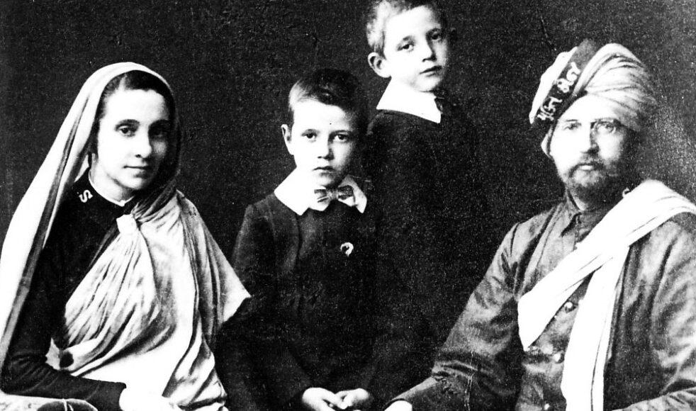 Clara och Frans med barnen Eric och William.