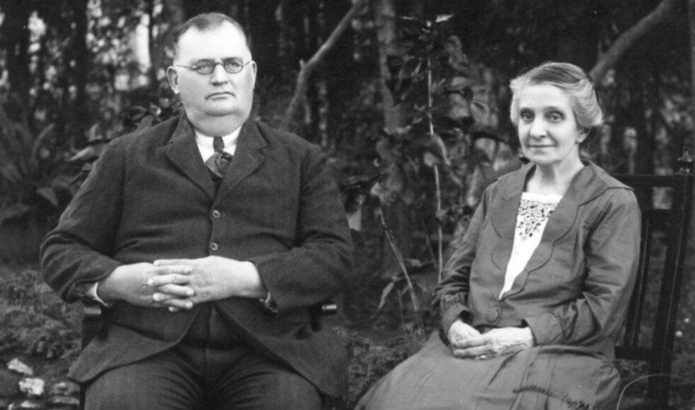 Frans (1870–1961) och Clara (1868–1894), här på äldre dagar.