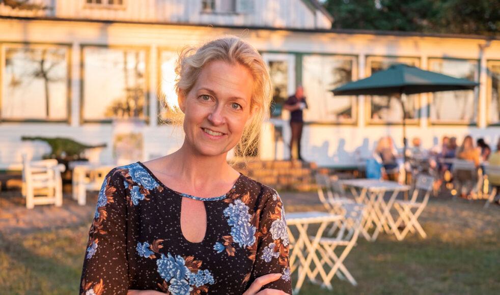 – Andaktslivet som vi har haft här har varit otroligt givande, säger, Veronica Öjfelth Svartdahl, föreståndare för EFS-gården Höllviksstrand. Bild: Jakob Arvidsson