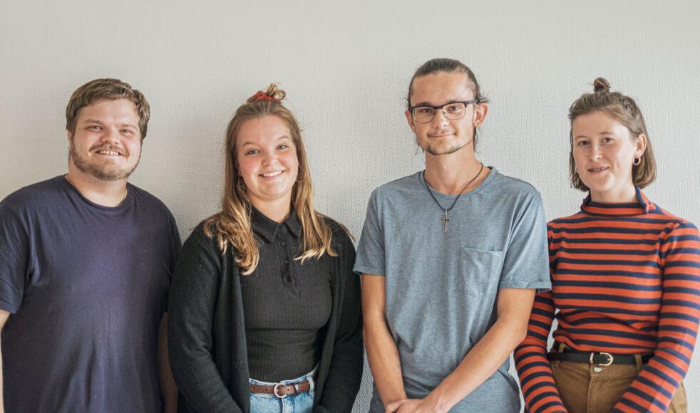 Johannes Bergner, Tilda Henningsson, Hannes Vestrin och Ruth Danstål. Bild: Dagmawit Alemayehu