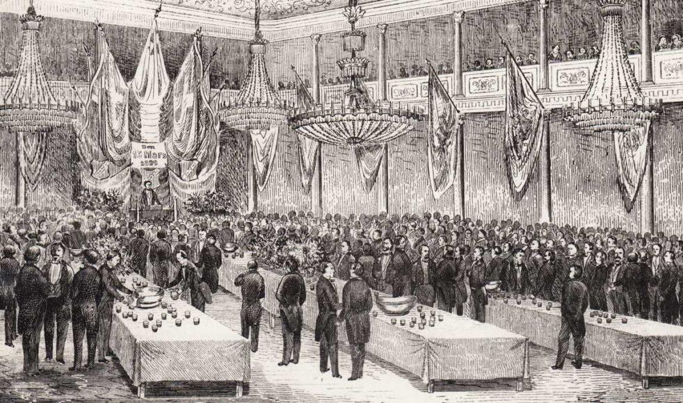 De la Croix' salong i Brunkebergs hotell där EFS årsmöte hölls 1857.