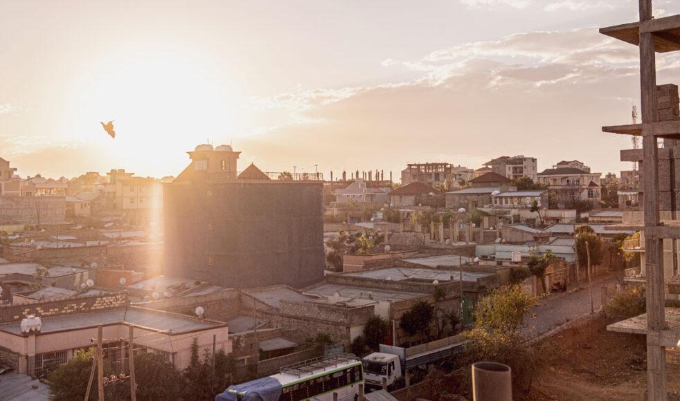 Utsikt över den krigsdrabbade regionhuvudstaden Mekelle. Bild: Dagmawit Alemayehu