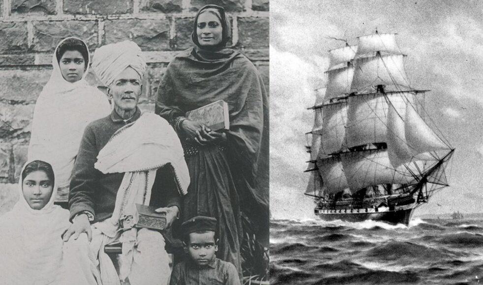 Ruben Nandkishor var den förste att döpas sedan EFS inlett missionsarbetet i Indien. Här tillsammans med sin familj. / Den svenska fregatten Vanadis.