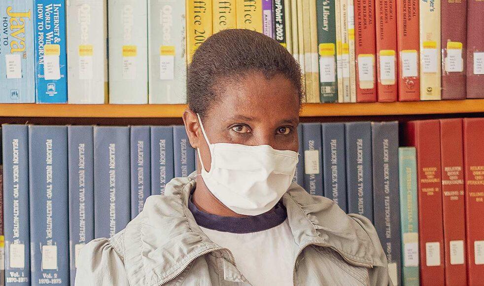 Werkenesh Gashe, student på Mekane Yesus Seminariet i Mekanissa i Addis Abeba. Bilder: Dagmawit Alemayehu