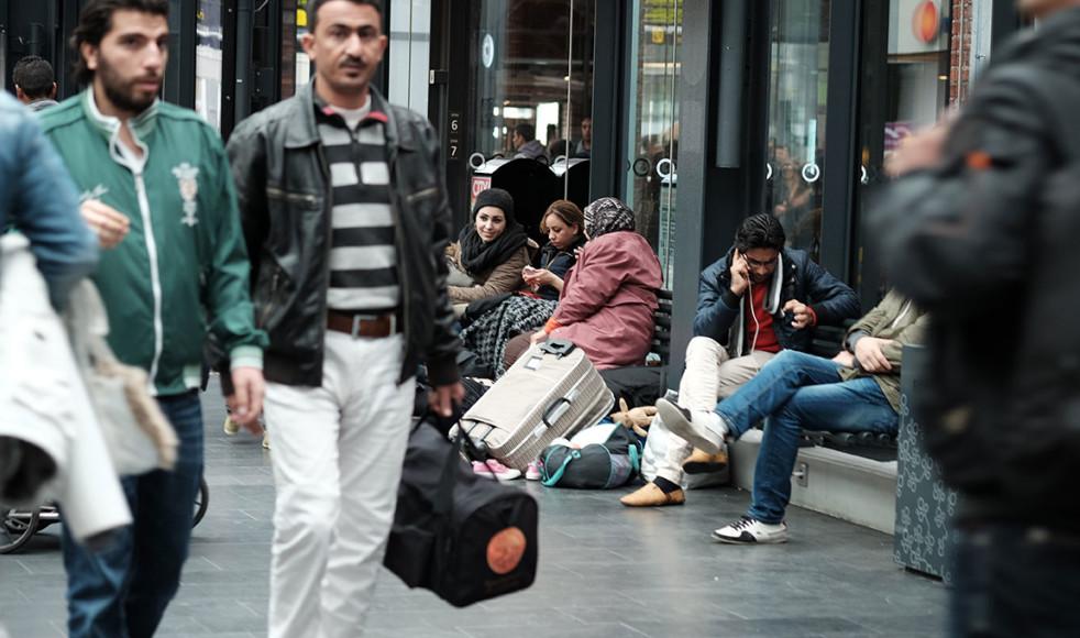 På Malmö Central finns många organisationer som jobbar för att välkomna de människor som är på flykt.