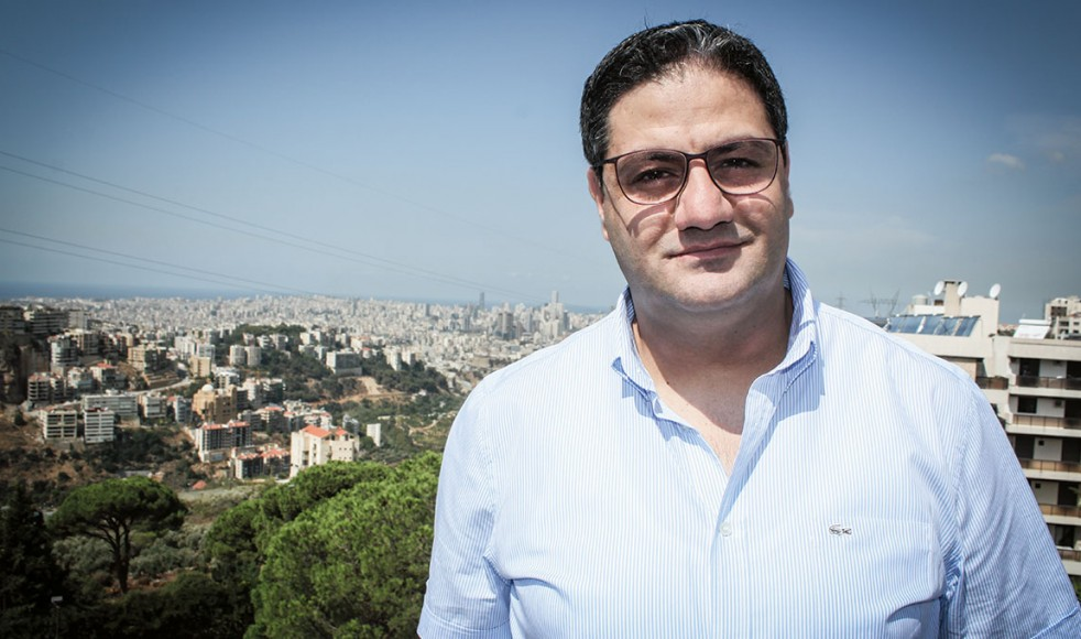 Maroun Bou Rached är produktionschef på Sat-7 i Libanon.