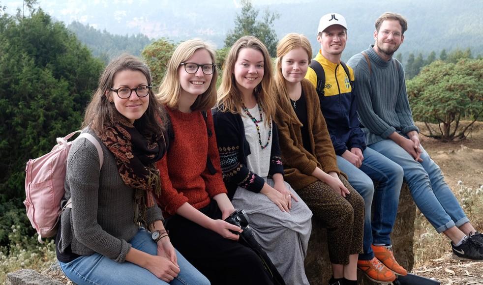 Årets Outreach-team. Från vänster: Paulina Hedman, Maja Dahlbäck, Ania Andersson, Klara Warenmark, Simon West och Oscar Tingberg.