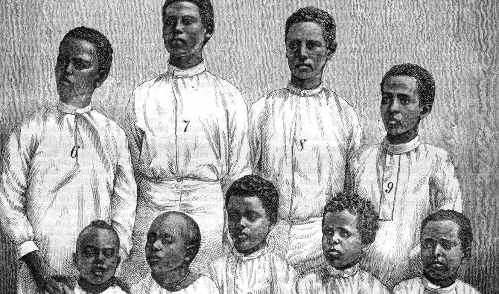 Elever vid Lundahls skola år 1884.