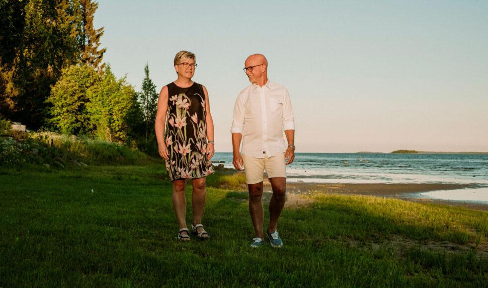 Tillsammans med frun Lisbeth bor Mats väldigt naturskönt nära havet. En av hans styrkor som han kan ta med sig inför höstens nya arbete är att bygga goda arbetslag.  – Jag känner verkligen en glädje när jag ser att någon hittar rätt i sin tjänst.