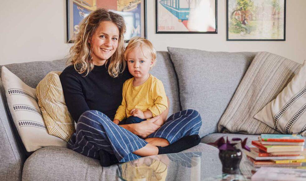 Amanda med sonen Olle