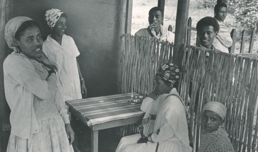 Väntsalen i kliniken i Nedjo, där Lydia arbetade i två perioder, 1961–1968 och 1970–1975.