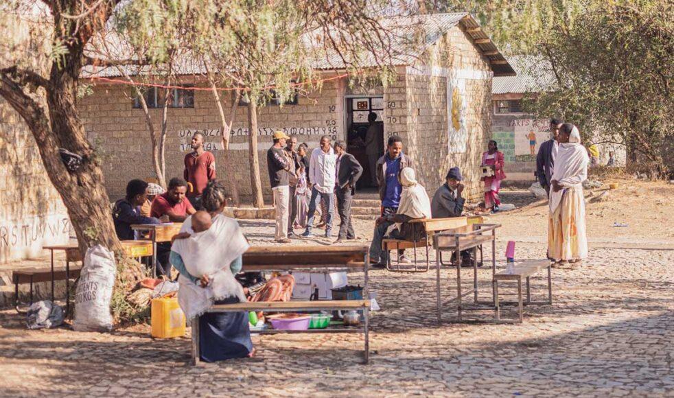 Flyktingläger i Mekelle. Flera tusentals interna flyktingar är offer för den väpnade konflikten i Tigray. Bild: Dagmawit Alemayehu