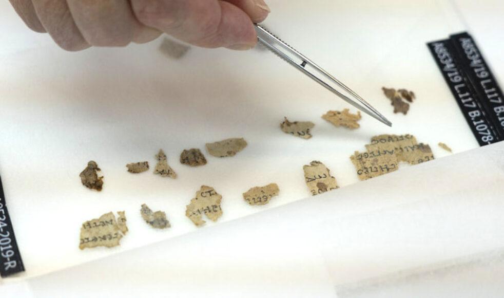 De nya fynden innehåller grekiska översättningar från bland annat de bibliska böckerna Nahum och Sakarja. Bilder: Israel Antiquities Authority