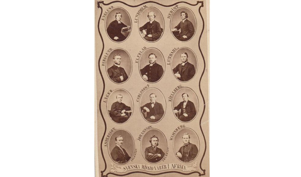 EFS missionärer i början av 1869. Carlsson och Hedin hade avlidit och innan året var slut även Kjellberg, Elfblad, Berglund, Wanberg samt Maria Kjellberg och hennes nyfödde son.