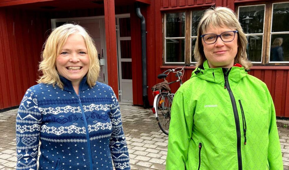 Ingrid Lindberg och Kristina Dagman från Holmsund vann EFS pris Årets insamlare. Bild: Privat