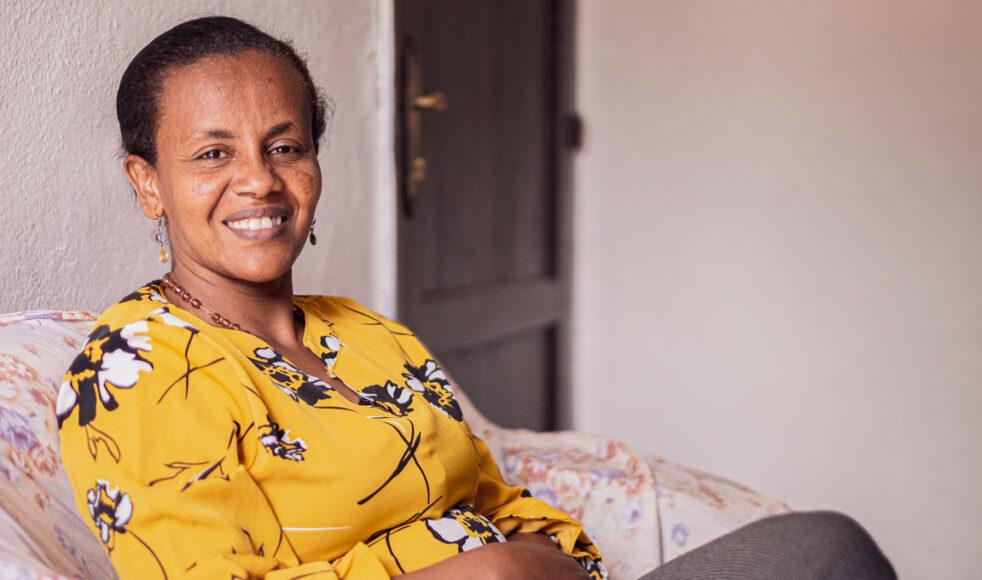 Ebisse Gudeta är den första kvinnliga rektorn vid Mekane Yesus-seminariets teologiska avdelning. Bild: Dagmawit Alemayehu