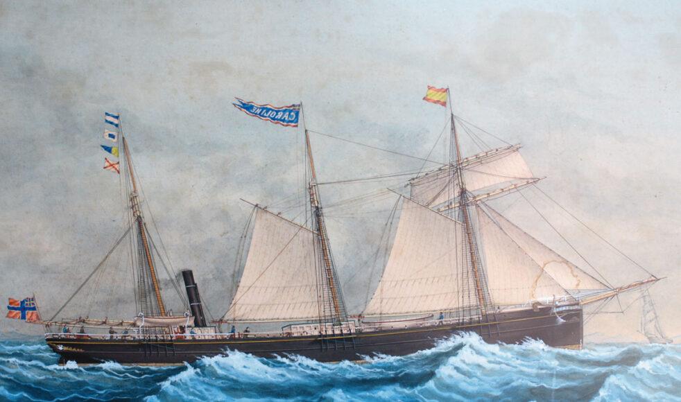 EFS missionsskepp Ansgarius byggdes 1872 genom insamlade gåvor. Åtta missionärer reste med på premiärturen 1873.